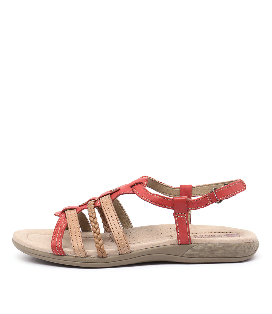 Planet Celina Coral Casual Flat Sandals
