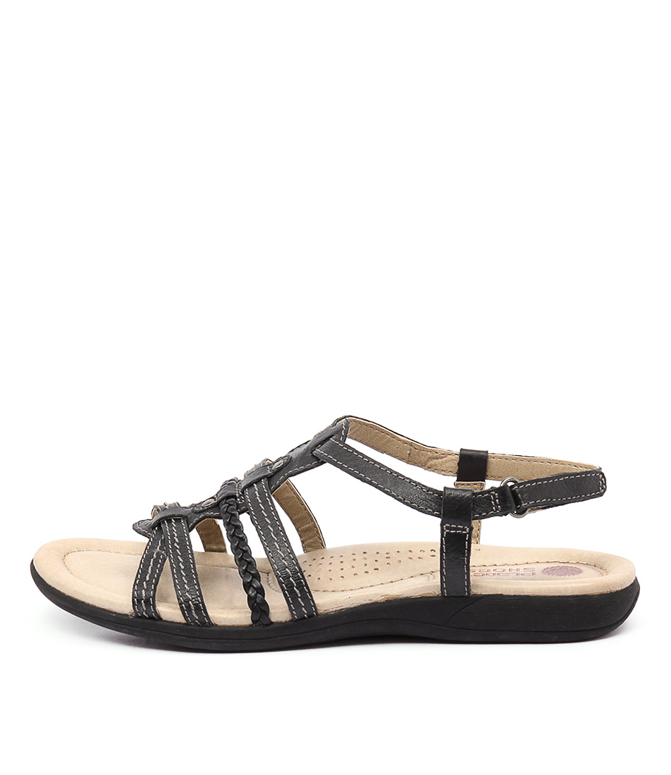 Planet Celina Black Casual Flat Sandals
