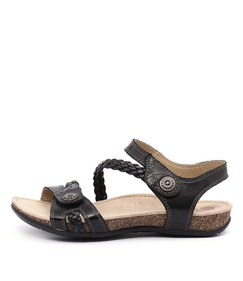 Planet Alexia Black Casual Flat Sandals