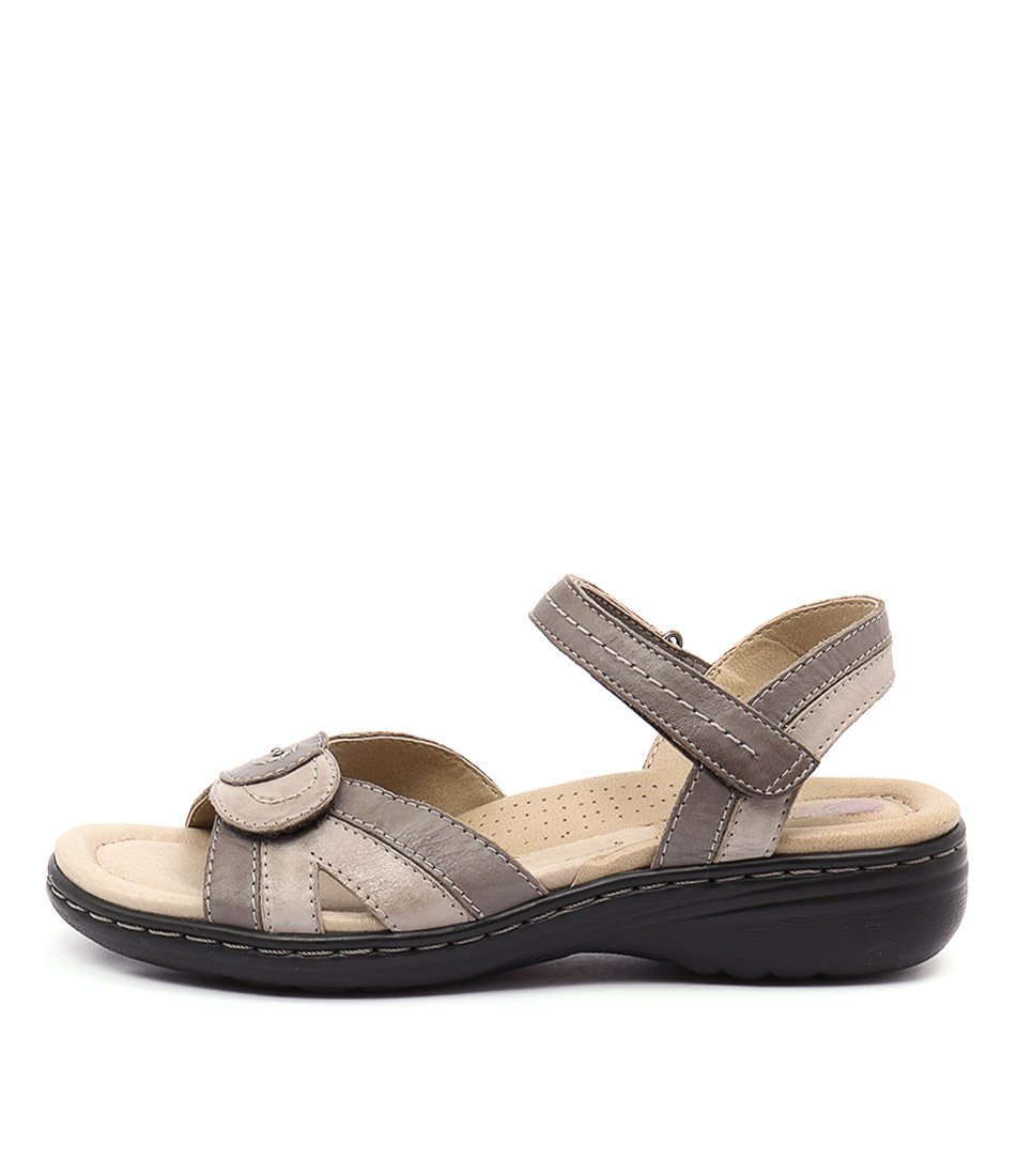 Planet Ema Grey Multi Casual Heeled Sandals