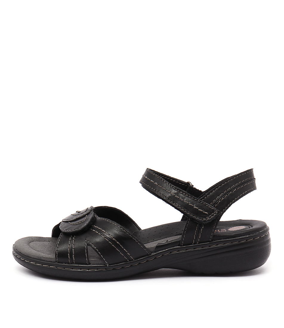 Planet Ema Black Casual Heeled Sandals