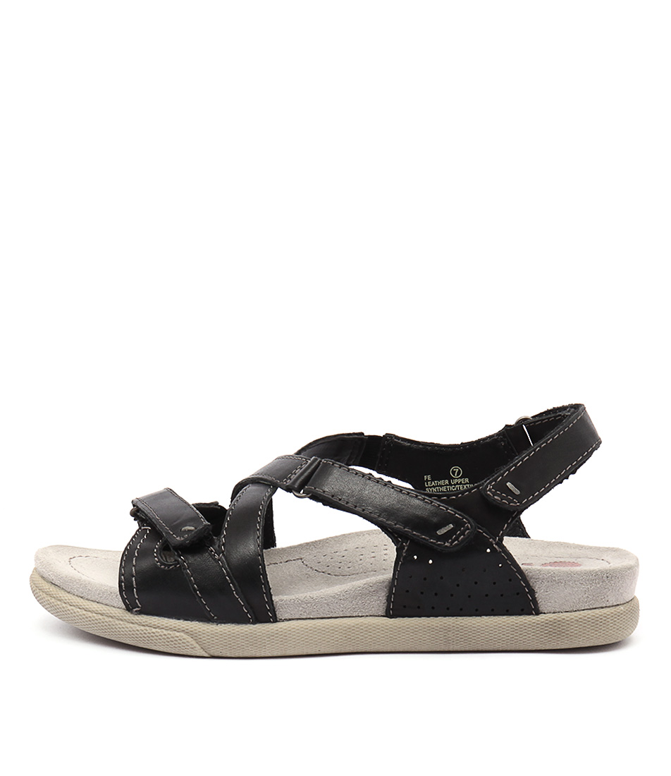 Planet Fe Black Casual Flat Sandals