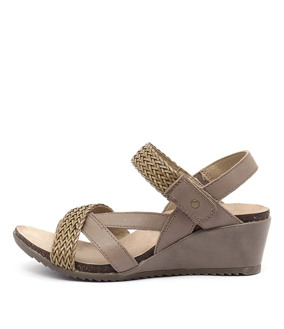 Planet Paloma Pl Taupe Casual Heeled Sandals