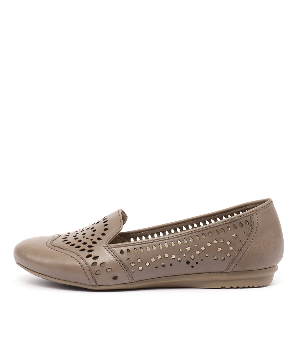 Planet Tiara Pl Taupe Flat Shoes
