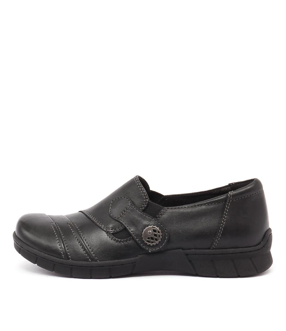 Planet Jess Black Casual Heeled Shoes