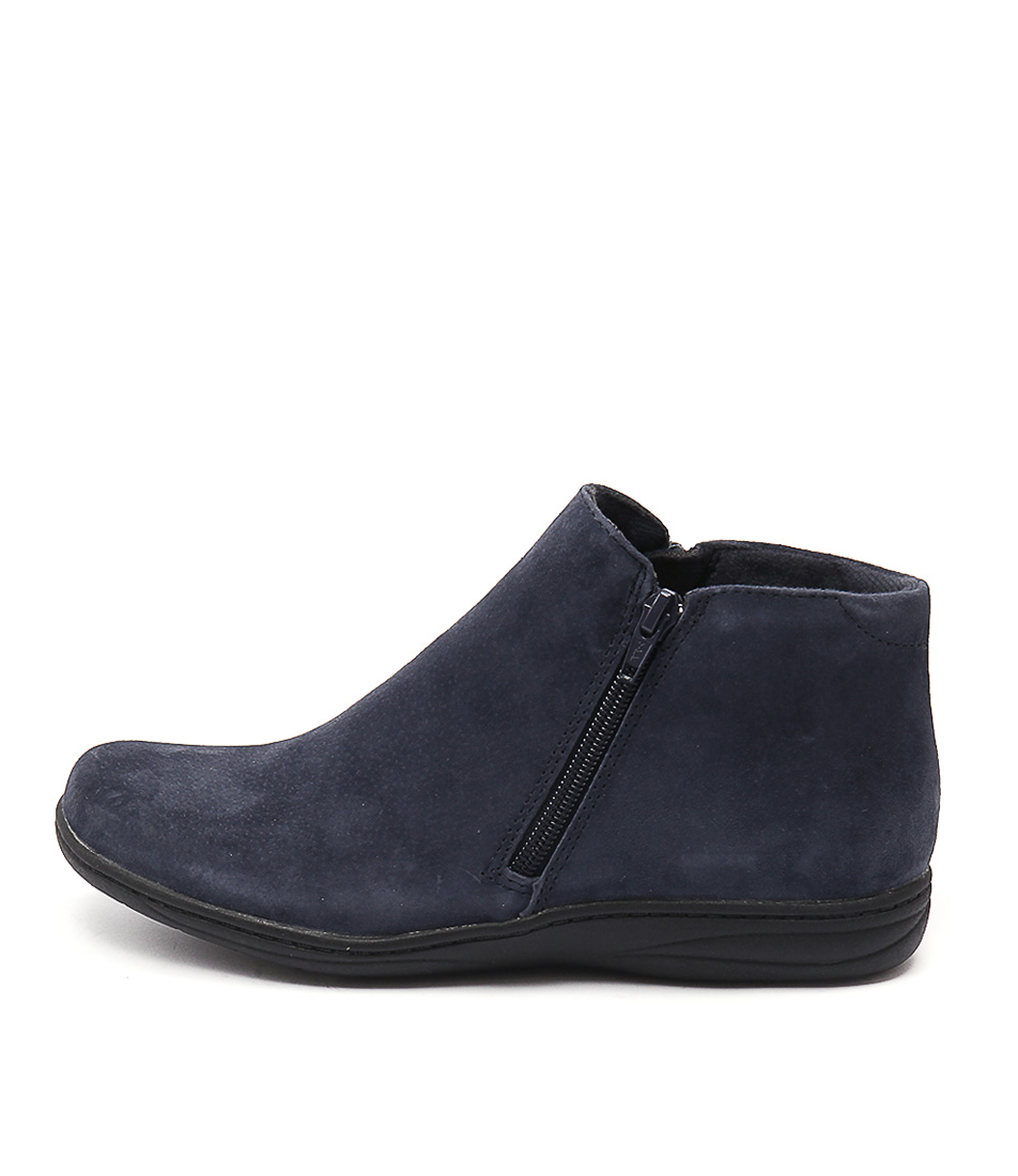 Planet Roxy Navy Casual Ankle Boots