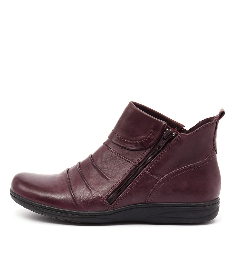 Planet Ripple Pl Prune Ankle Boots