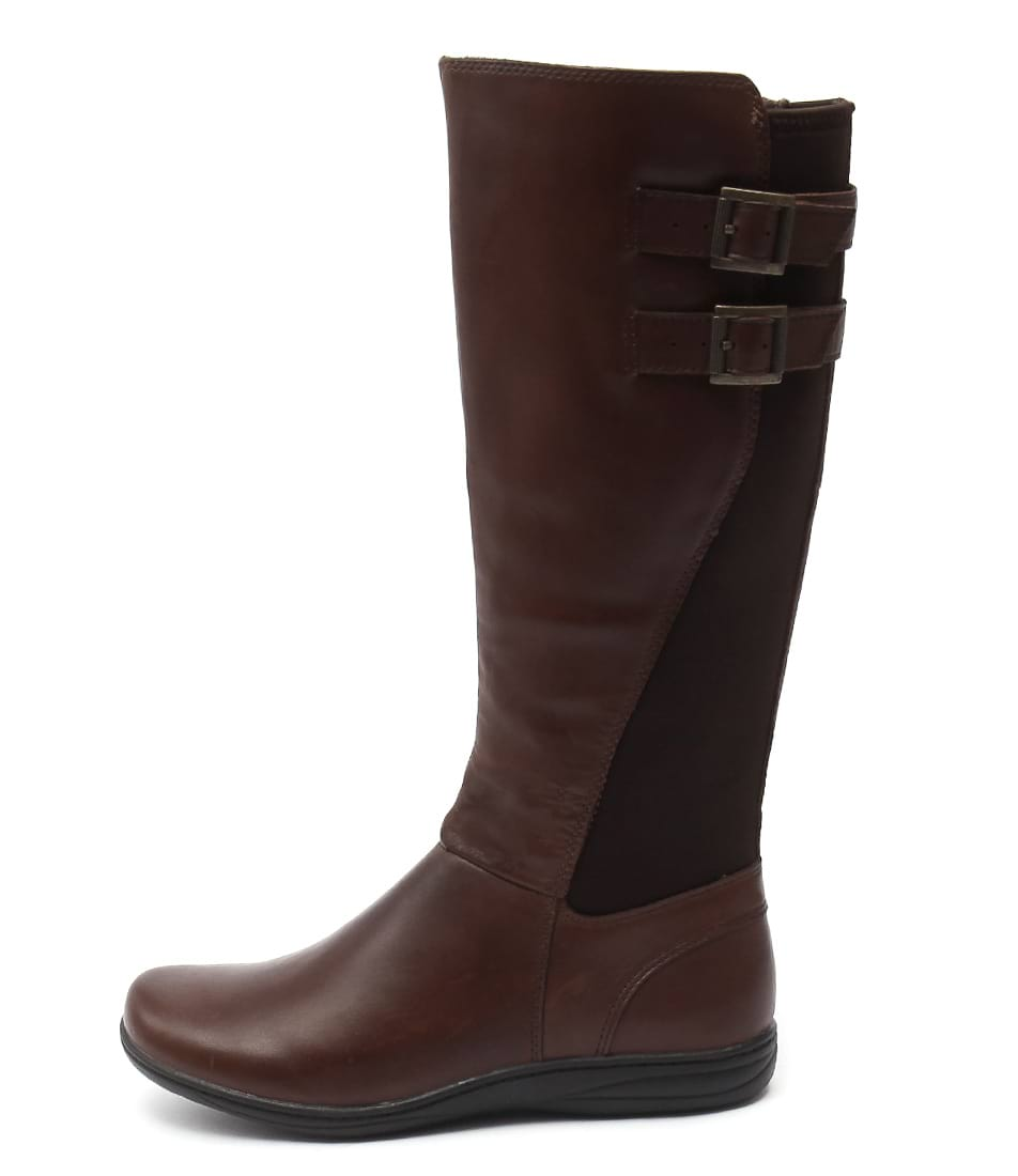 Planet Raise Brown Casual Long Boots
