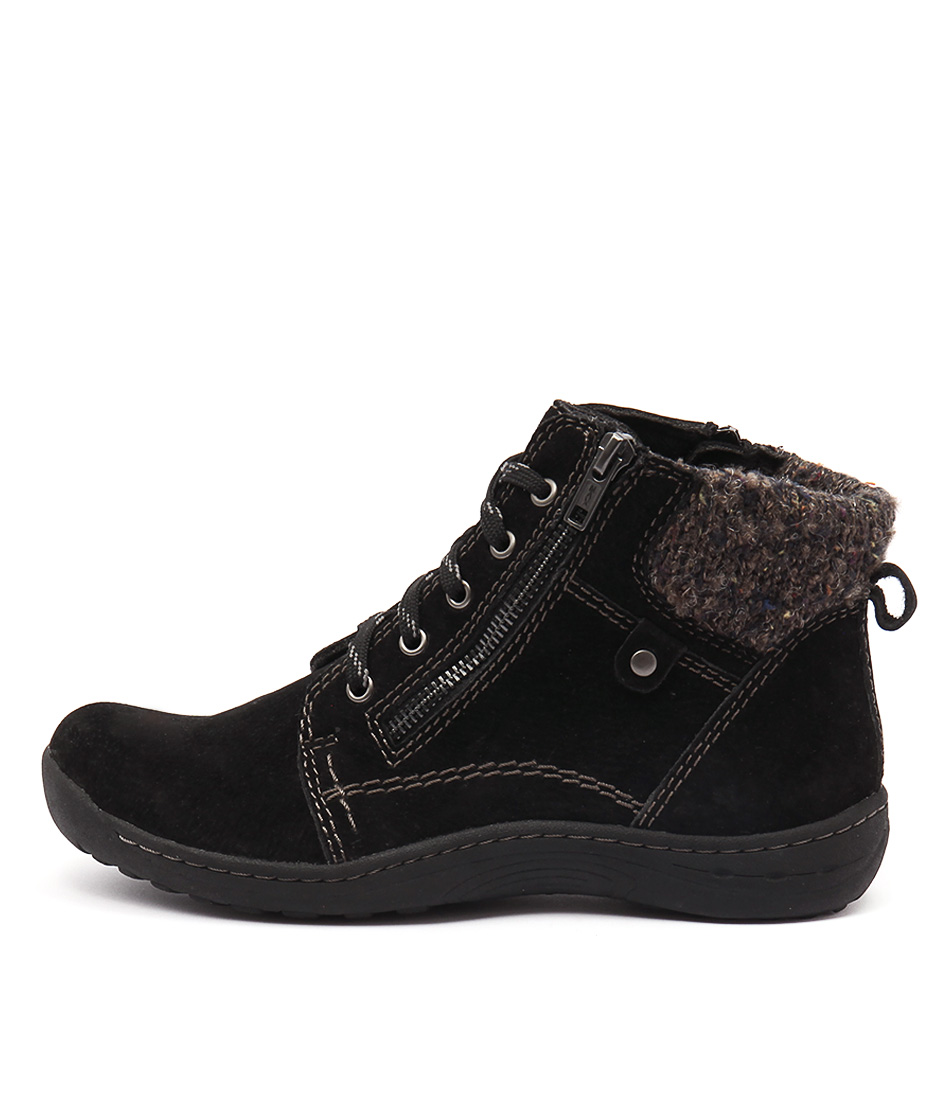 Planet Tannin Black Ankle Boots