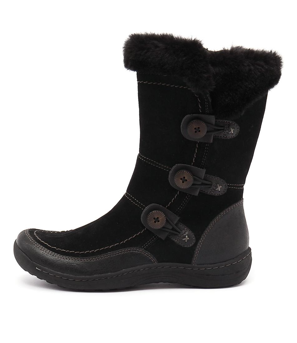 Planet Torn Black Calf Boots