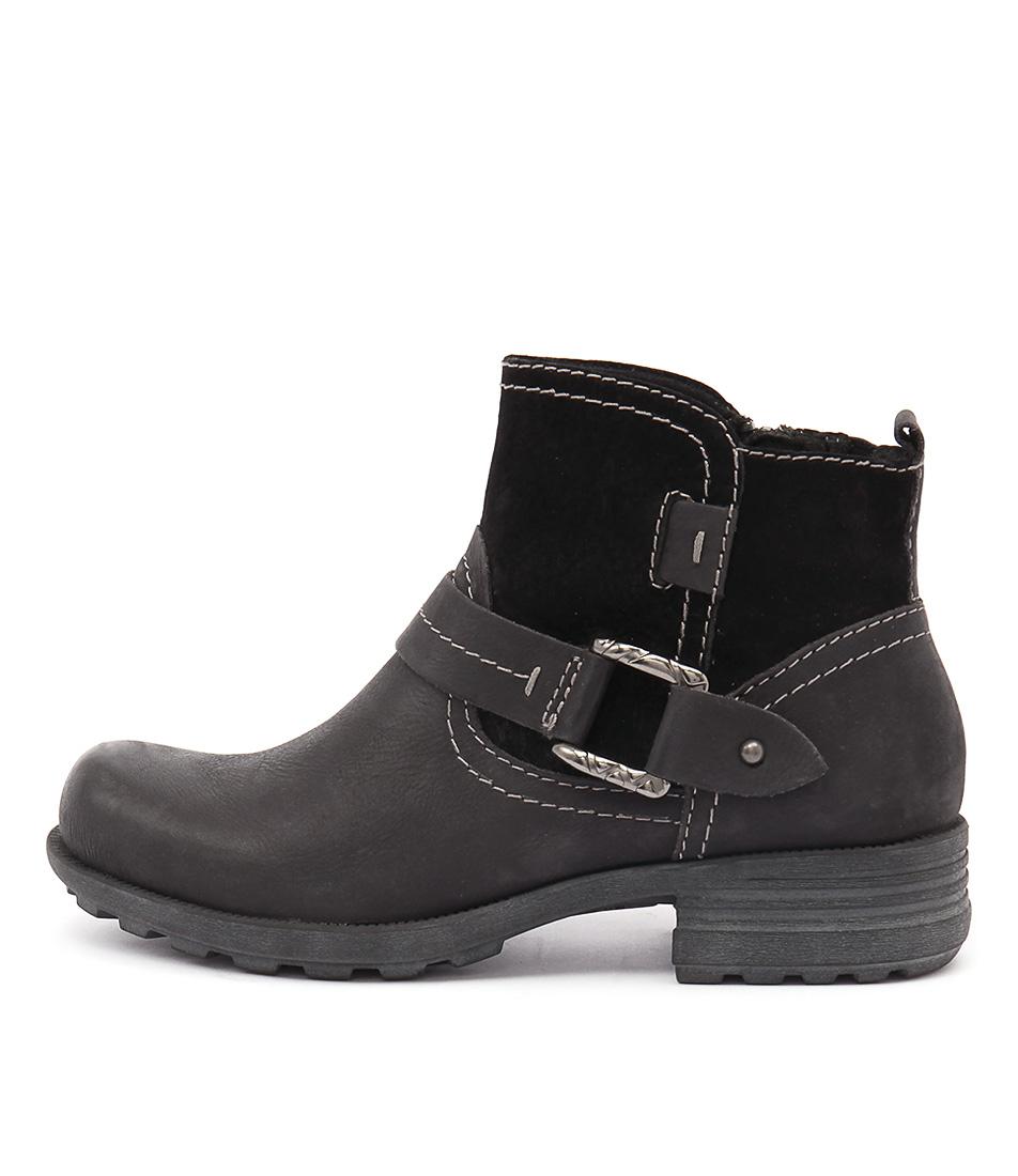 Planet Pale Black Ankle Boots