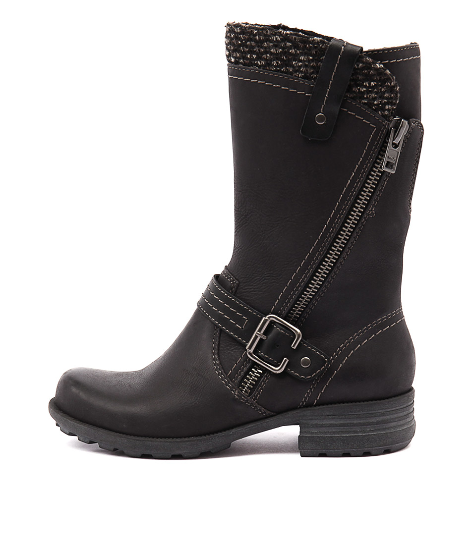 Planet Pugg Black Casual Calf Boots