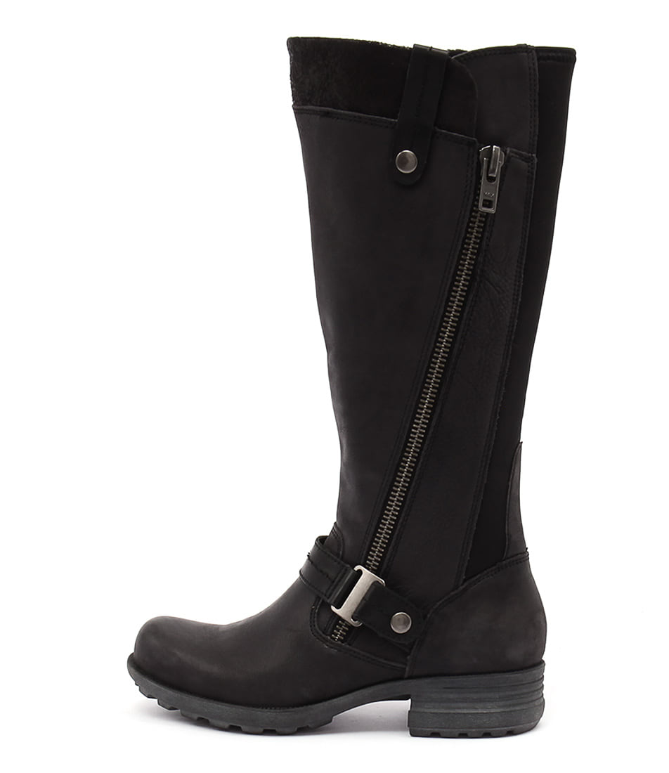 Planet Pearch Black Long Boots