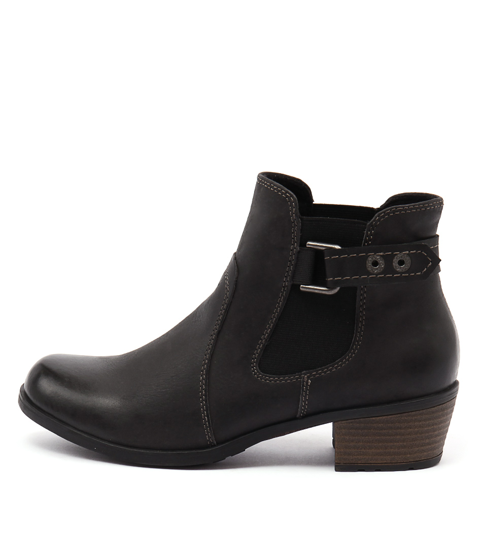 Planet Town Black Ankle Boots