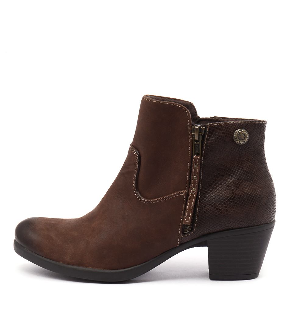 Planet Echo Bark Ankle Boots