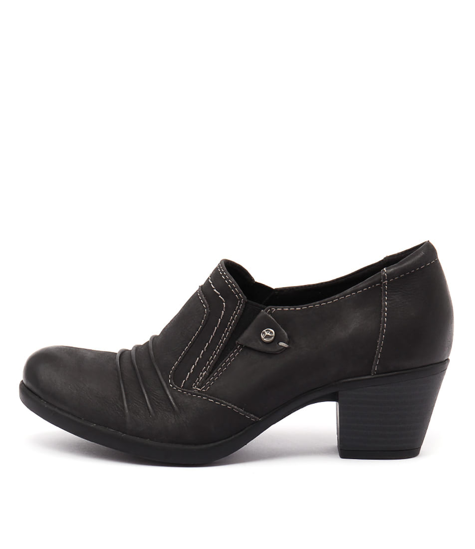 Planet East Black Casual Heeled Shoes