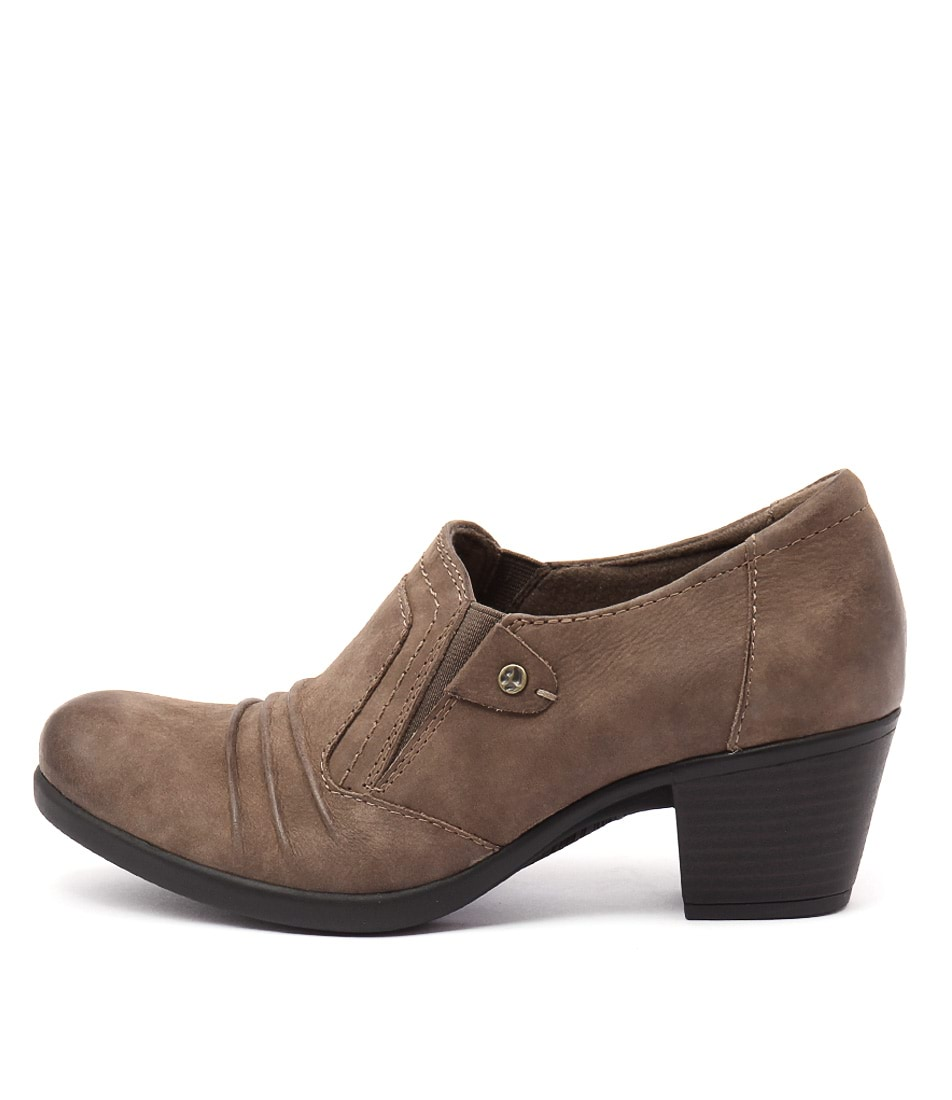 Planet East Taupe Casual Heeled Shoes
