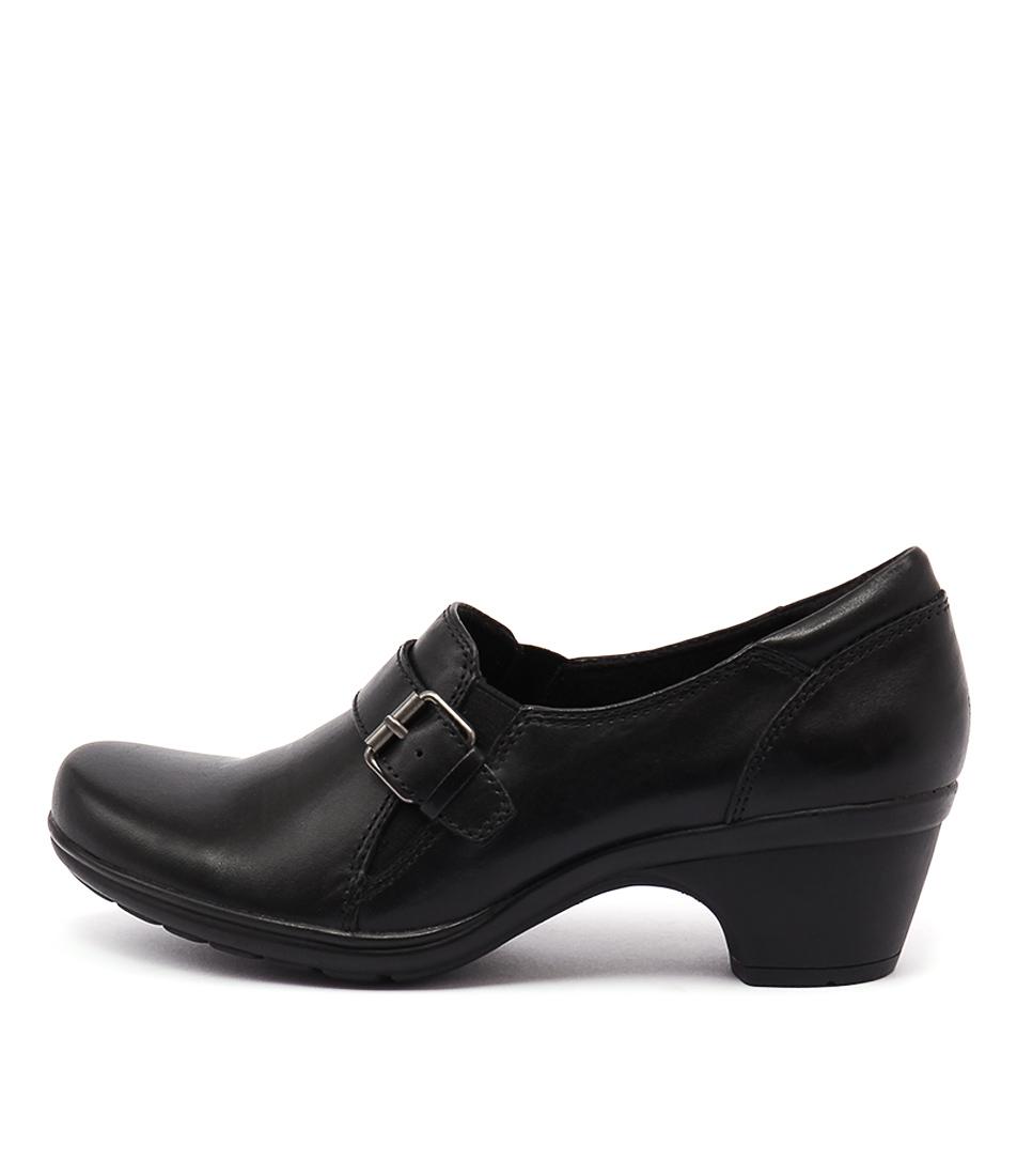 Planet Moocha Black Casual Heeled Shoes