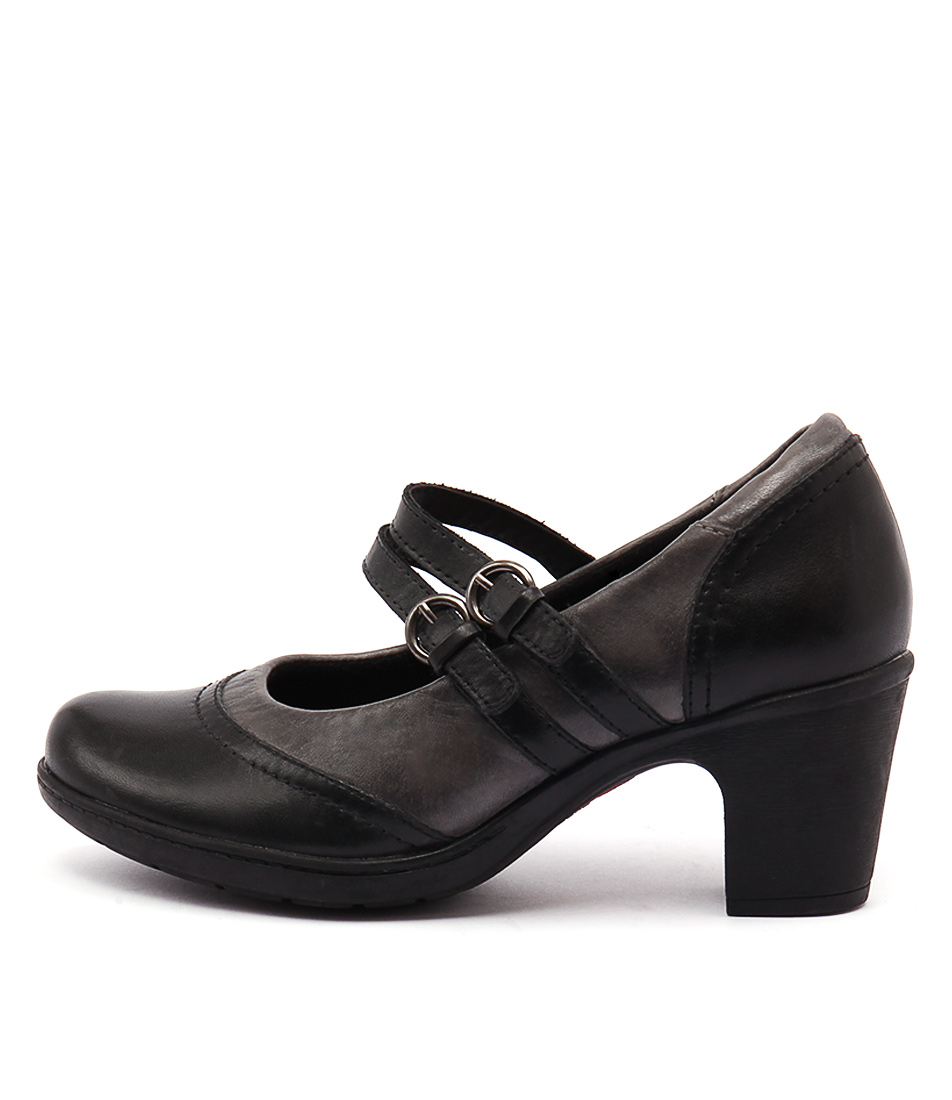 Planet Bernie Pl Black Grey  Heels