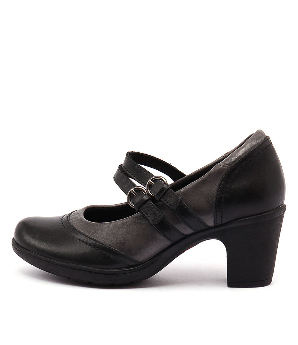 Planet Bernie Pl Black Grey Heeled Shoes