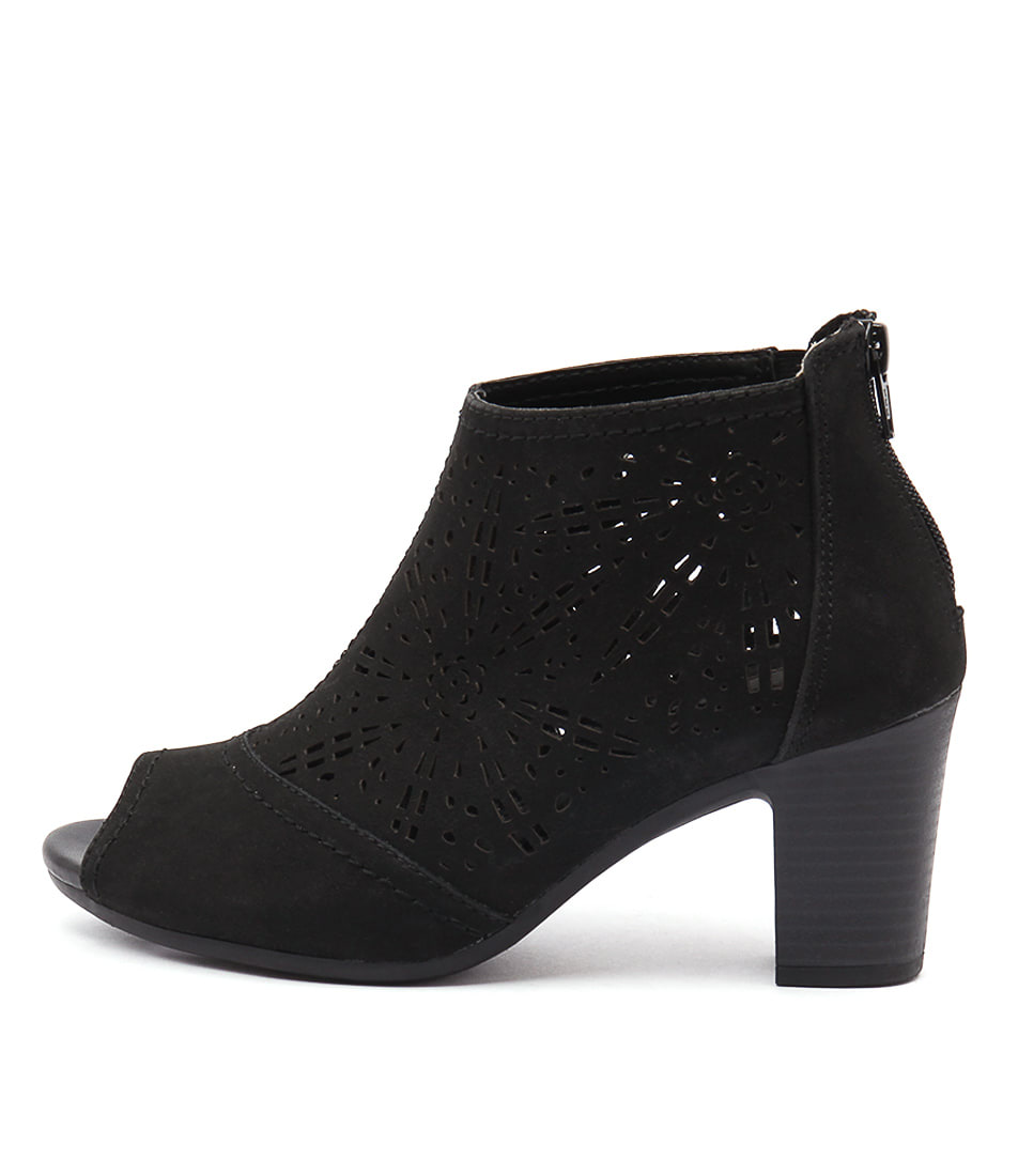 Planet Alight Black Casual Ankle Boots