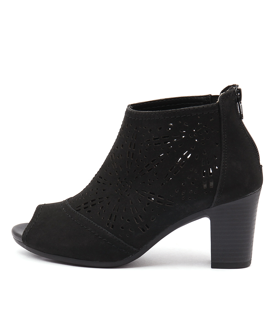 Planet Alight Black Ankle Boots