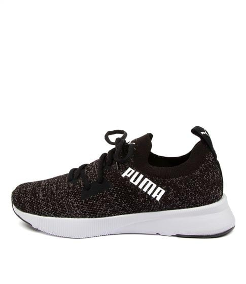 Buy Puma 192791 Flyer Run Knit Wns Pm Black Asphalt White Sneakers online with free shipping