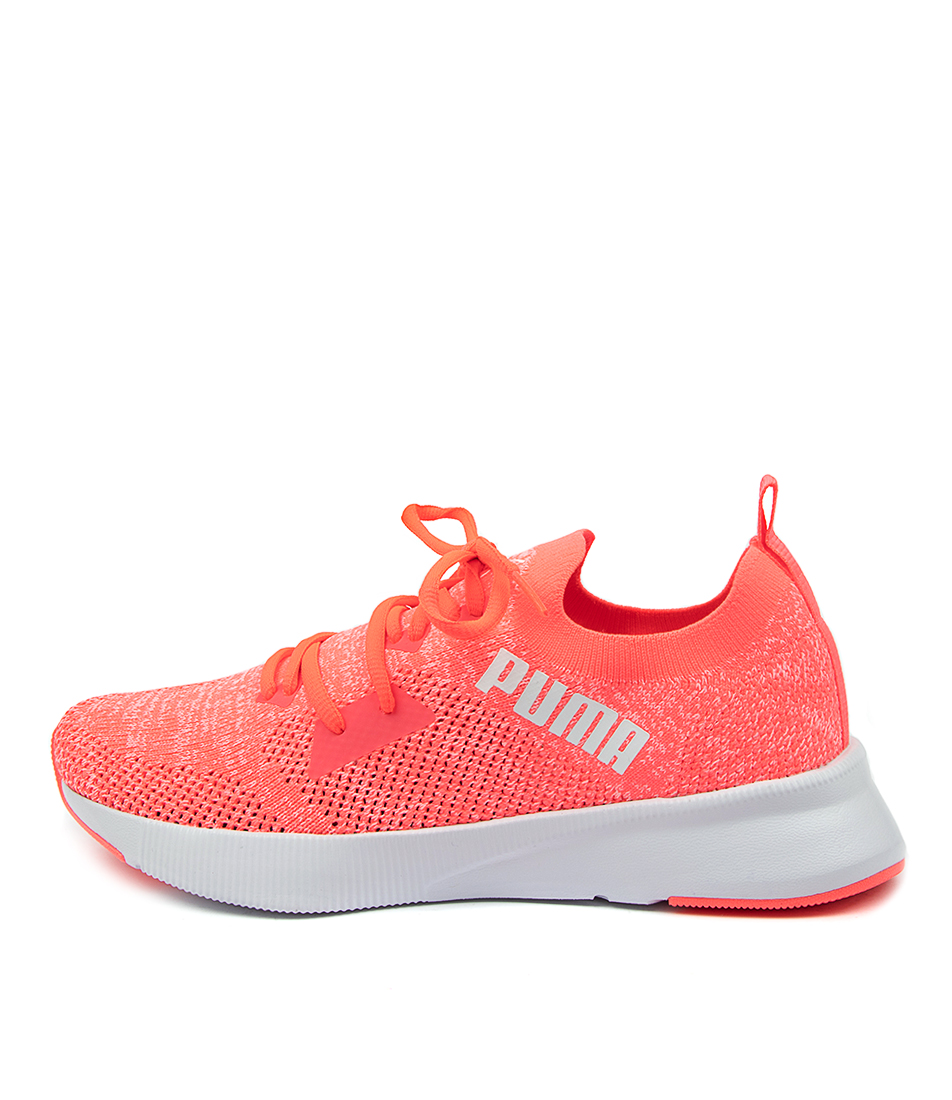 Buy Puma 192791 Flyer Run Knit Wns Pm Ignite Pink White Sneakers online with free shipping