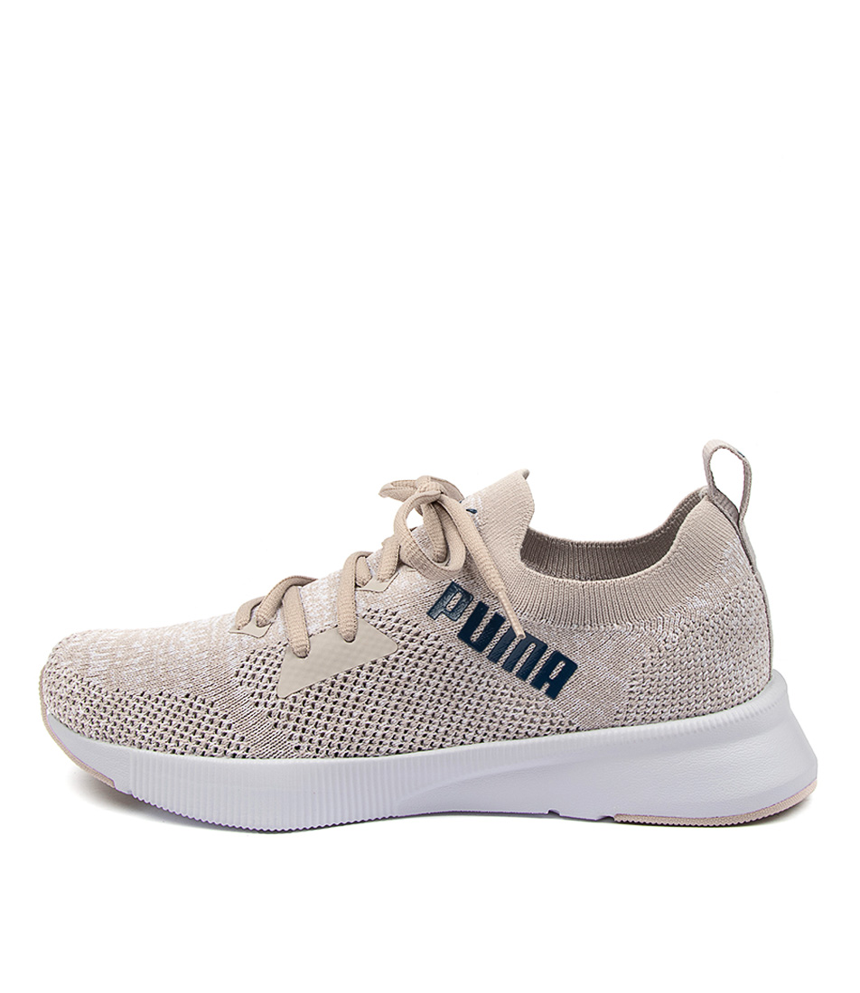 Buy Puma 192791 Flyer Run Knit Wns Pm Silver White Dark Denim Sneakers online with free shipping