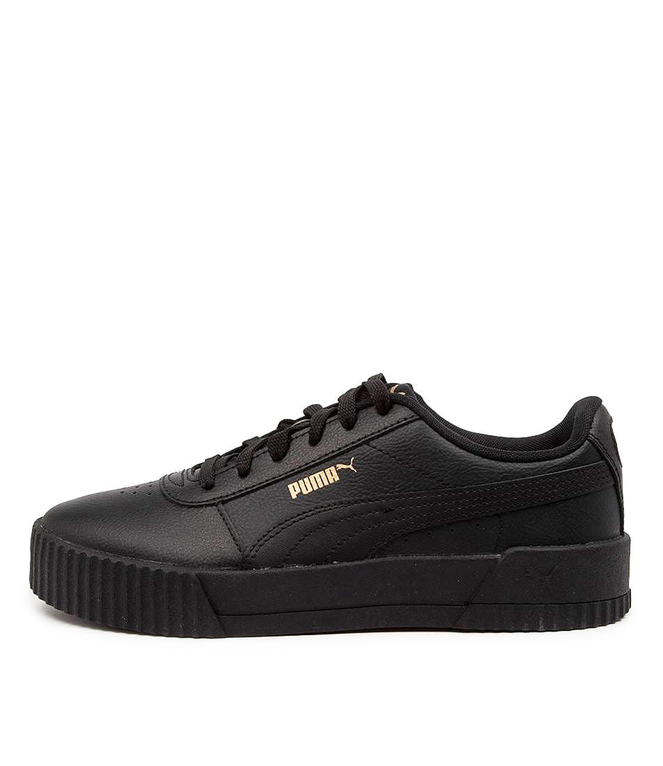 Buy Puma 370325 Carina L W Pm Black Gold Sneakers online with free shipping