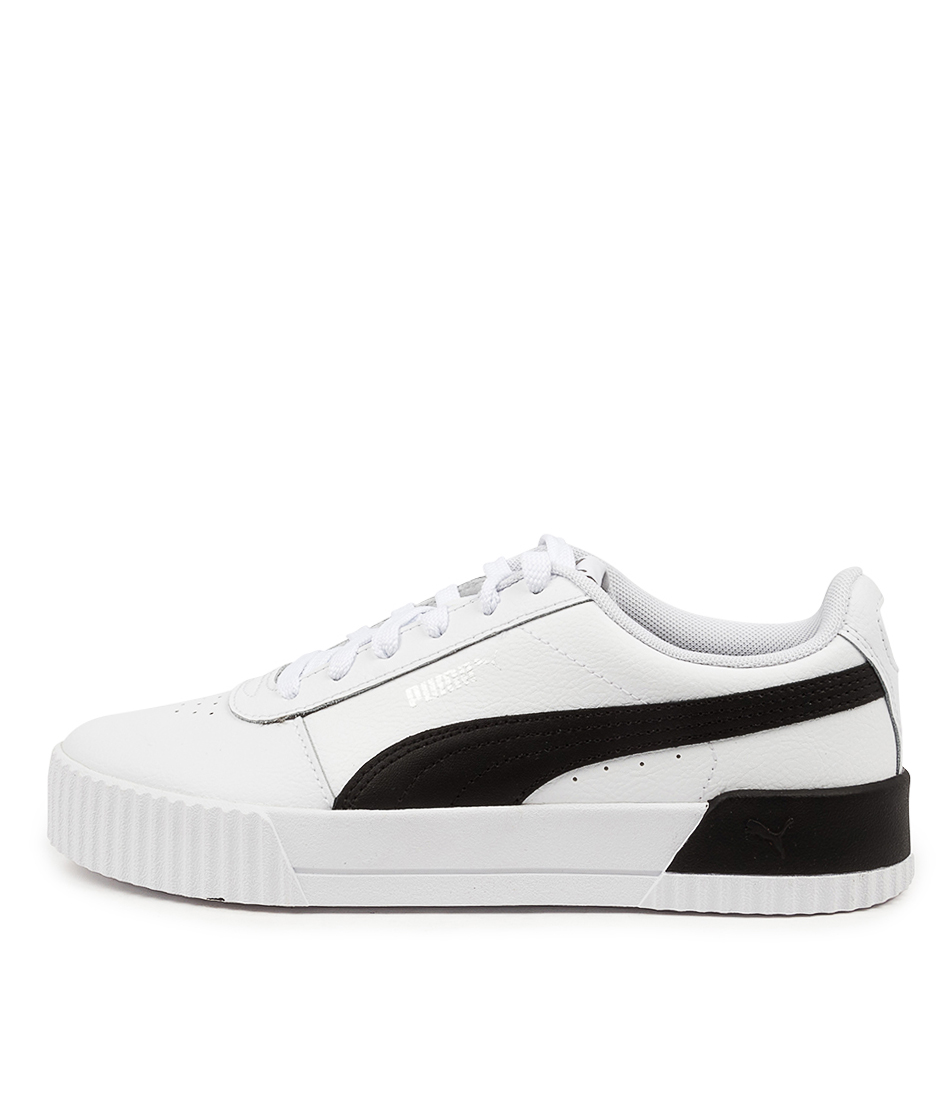 Buy Puma 370325 Carina L W Pm White Black Silver Sneakers online with free shipping