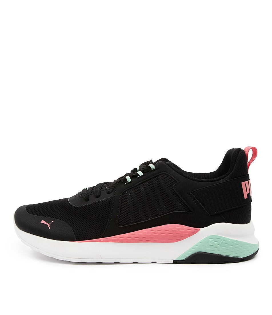 Buy Puma 371131 Anzarun Wns Pm Black Coral Green Sneakers online with free shipping