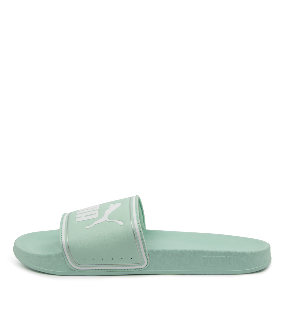 Buy Puma 372276 Leadcat Ftr Wns Pm Green White Silver Flat Sandals online with free shipping