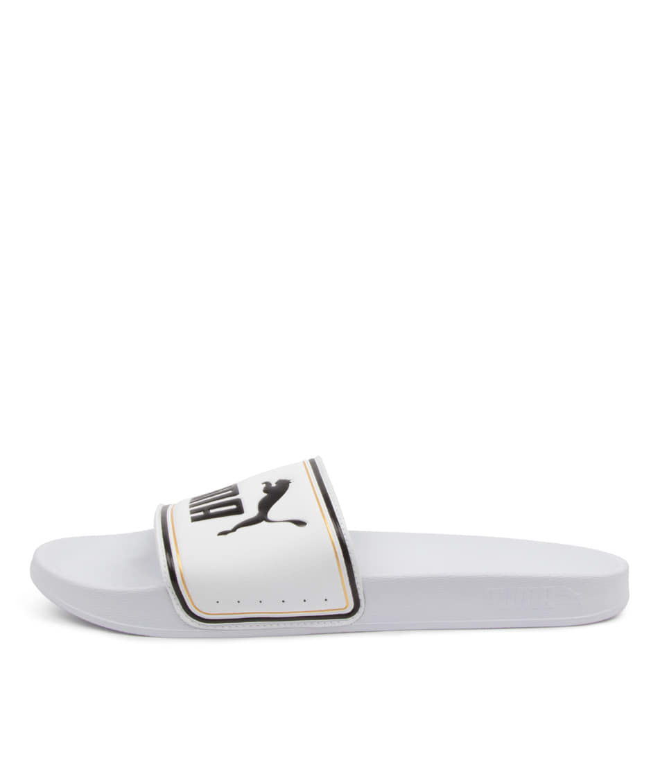 Buy Puma 372276 Leadcat Ftr Wns Pm White Gold Black Flat Sandals online with free shipping