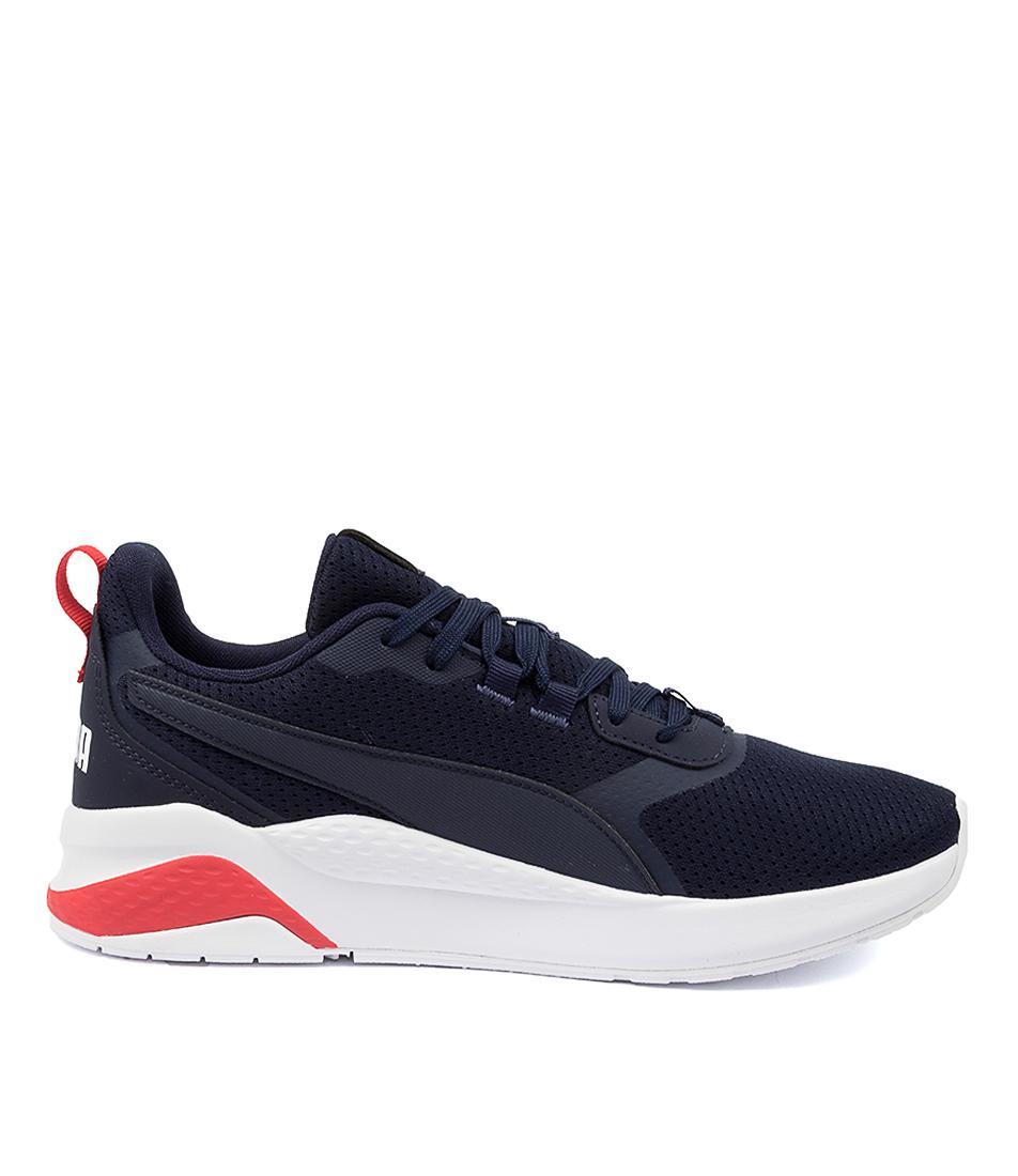 thumbnail 9 - New Puma Anzarun Peacoat Red Mens Shoes Active Sneakers Active