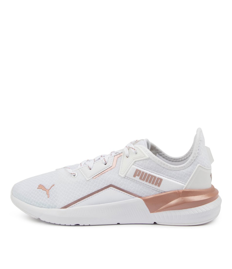Buy Puma 193773 Platinum Metallic Pm White Rose Gold Sneakers online with free shipping
