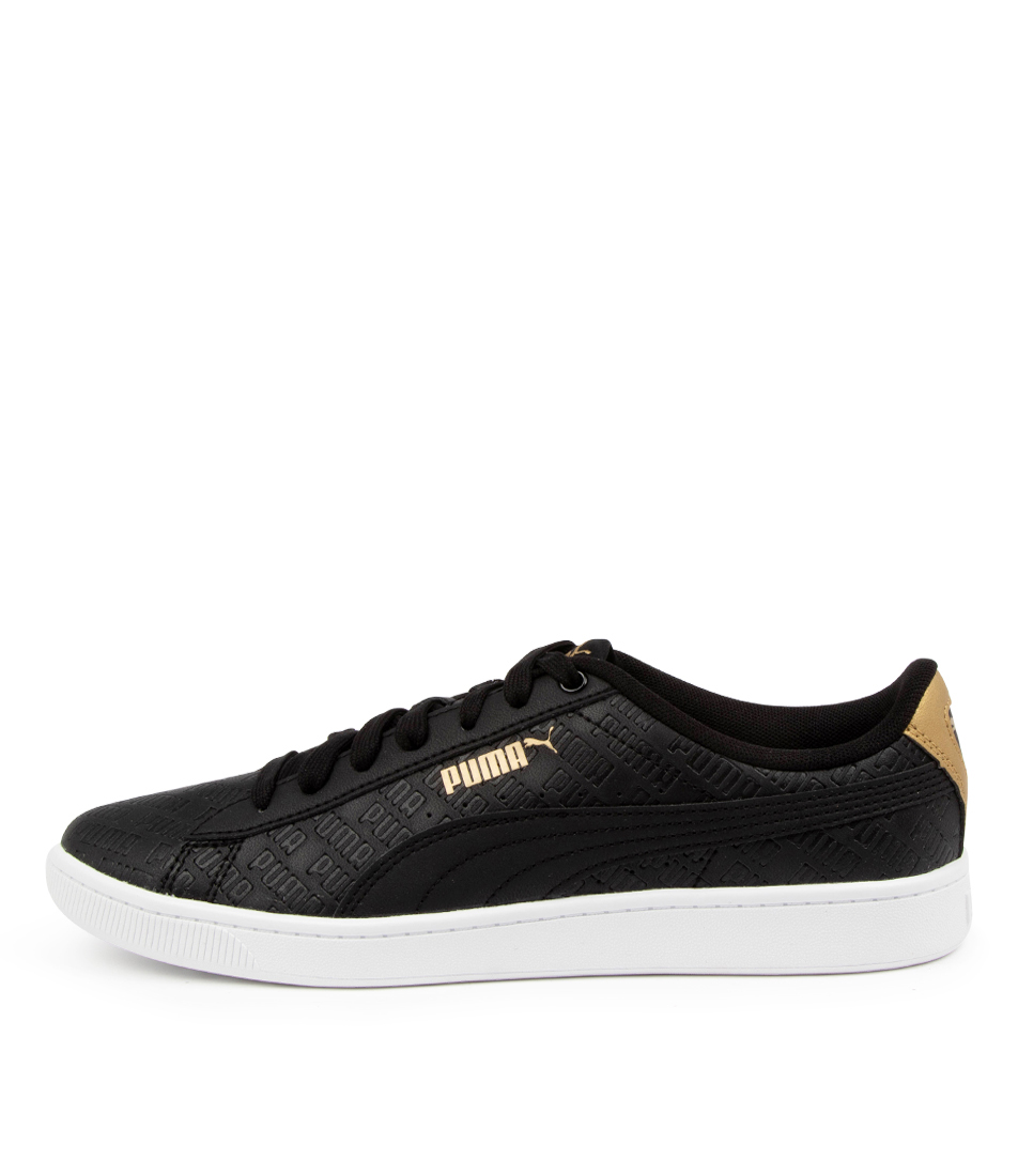 Buy Puma 373226 Vikky V2 Sig Pm White Gold Black Sneakers online with free shipping