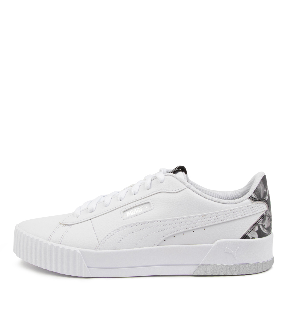 Buy Puma 375960 Carina Crew Untamed Pm White White Black Sneakers online with free shipping