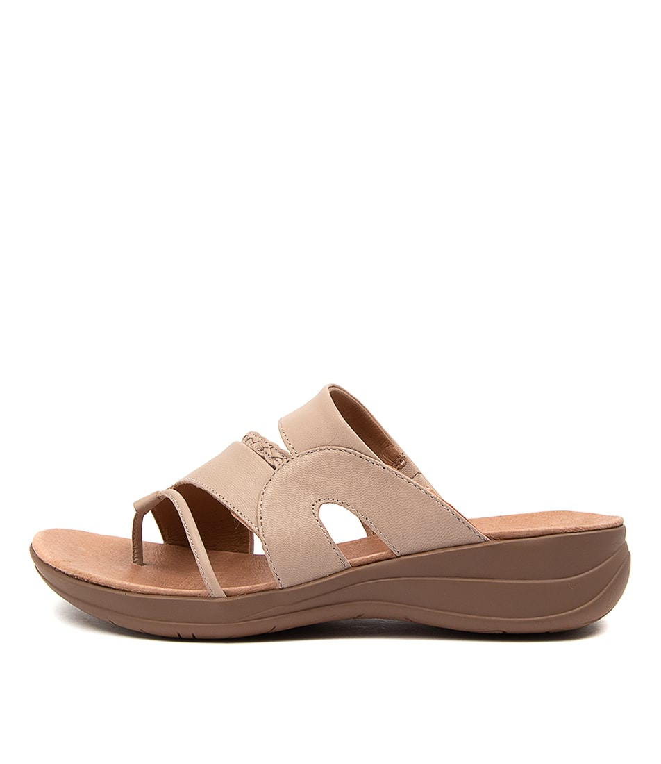 Buy Portland Mia Pp Lt Taupe Flat Sandals online with free shipping