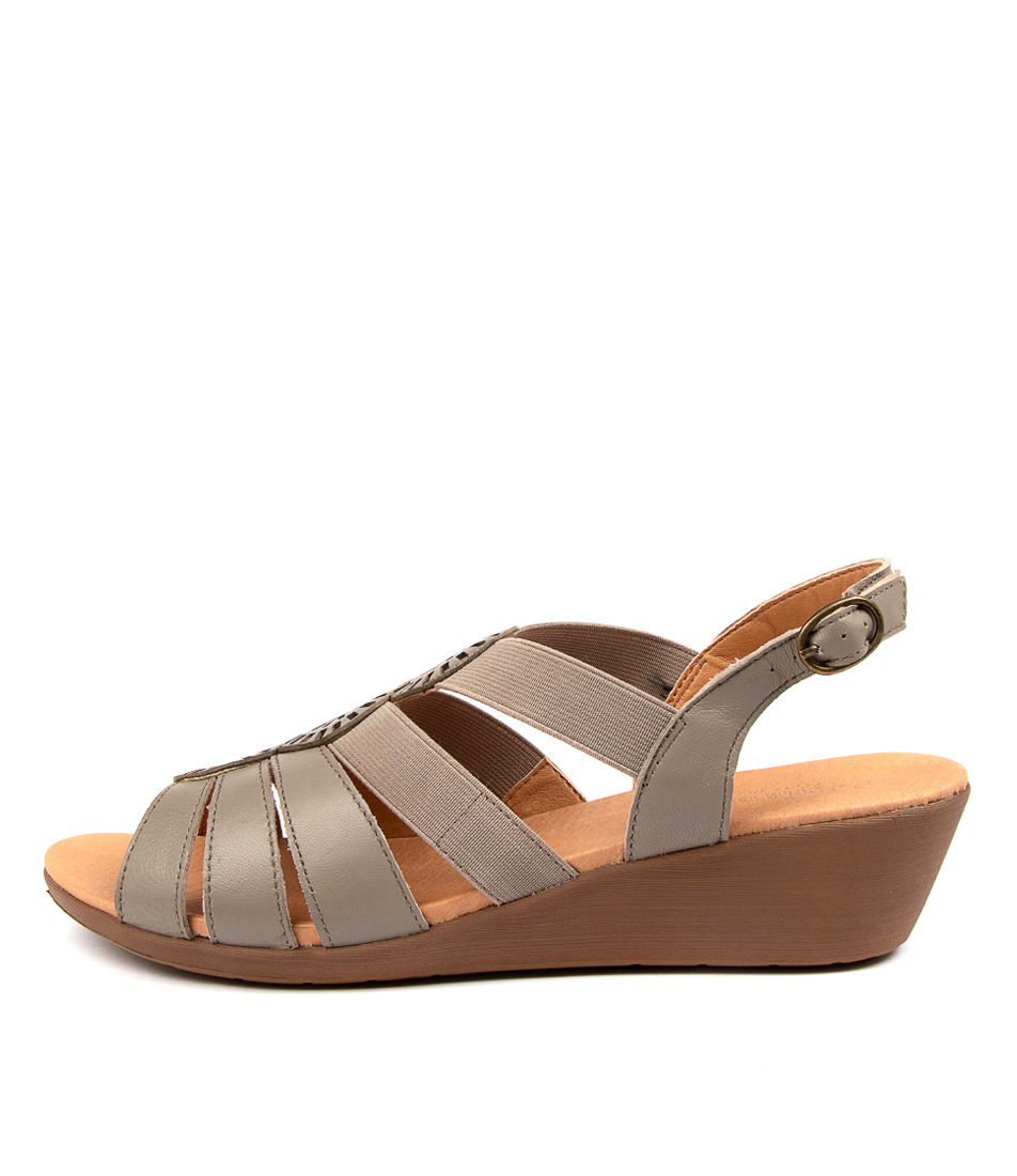 Buy Portland Joda Pp Dk Taupe Heeled Sandals online with free shipping