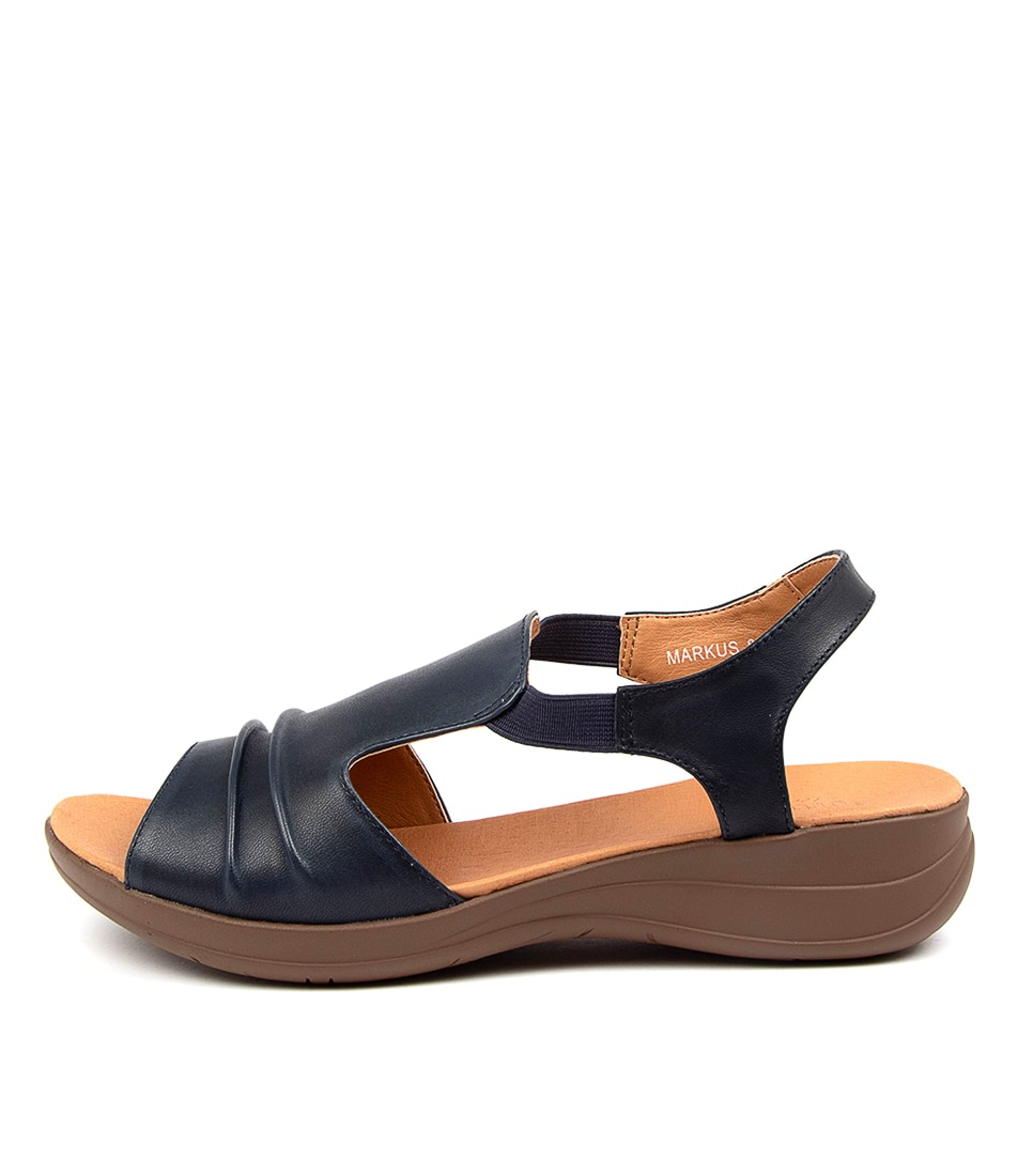 Buy Portland Markus Pp Navy Flat Sandals online with free shipping
