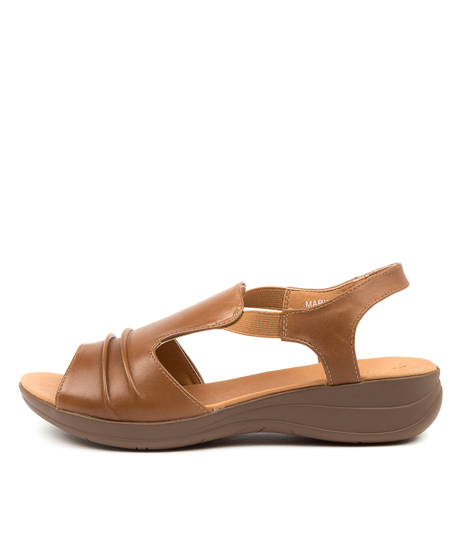 Buy Portland Markus Pp Lt Tan Sandals Flat Sandals online with free shipping