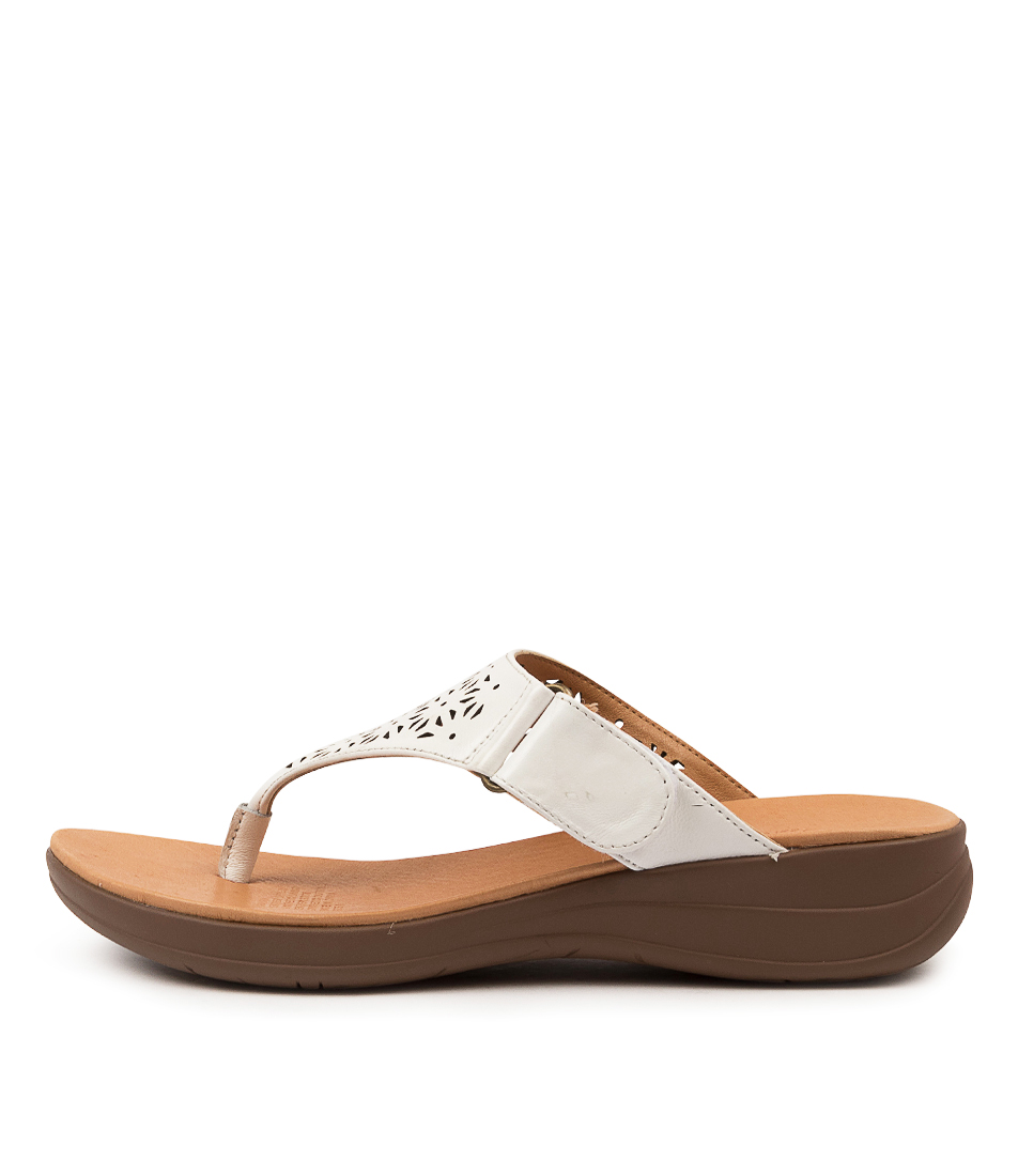Buy Portland Martha Pp White Flat Sandals online with free shipping