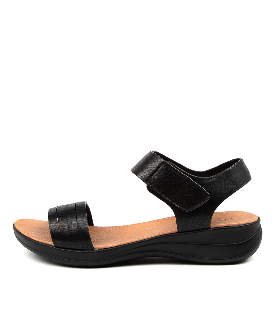 Buy Portland Mattox Pp Black Flat Sandals online with free shipping