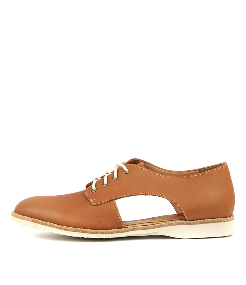 Buy Rollie Sidecut Cognac Burnish Flats online with free shipping
