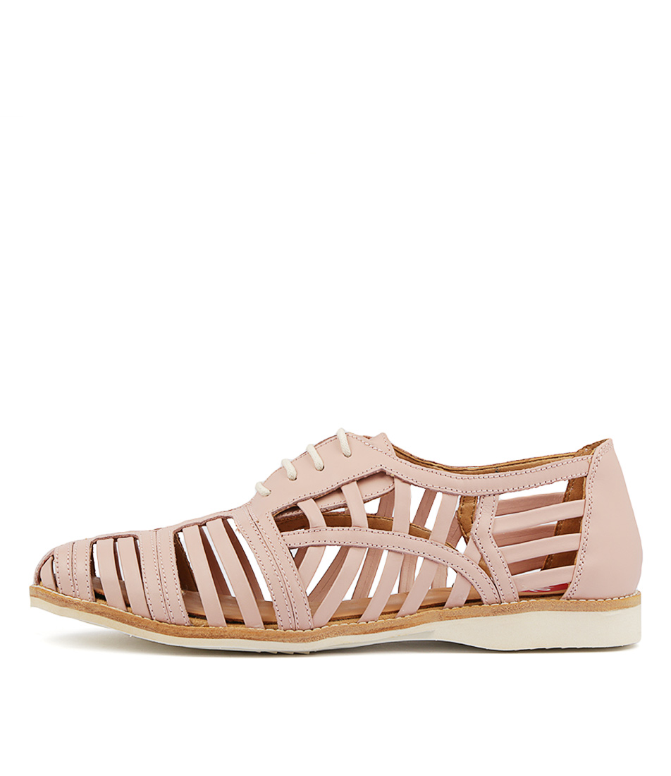 Rollie Derby Cage Snow Pink Flats
