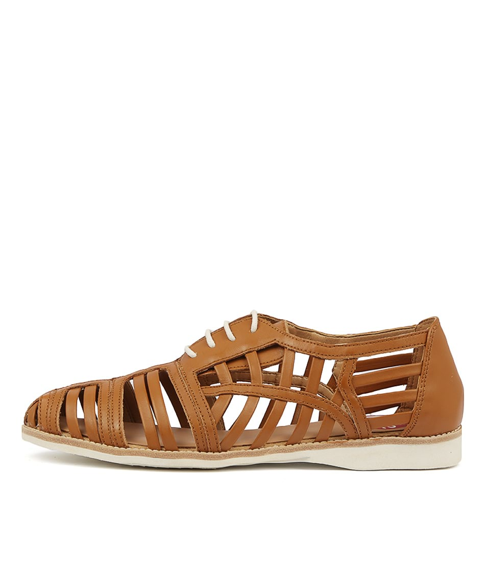 Buy Rollie Derby Cage Tan Flats online with free shipping