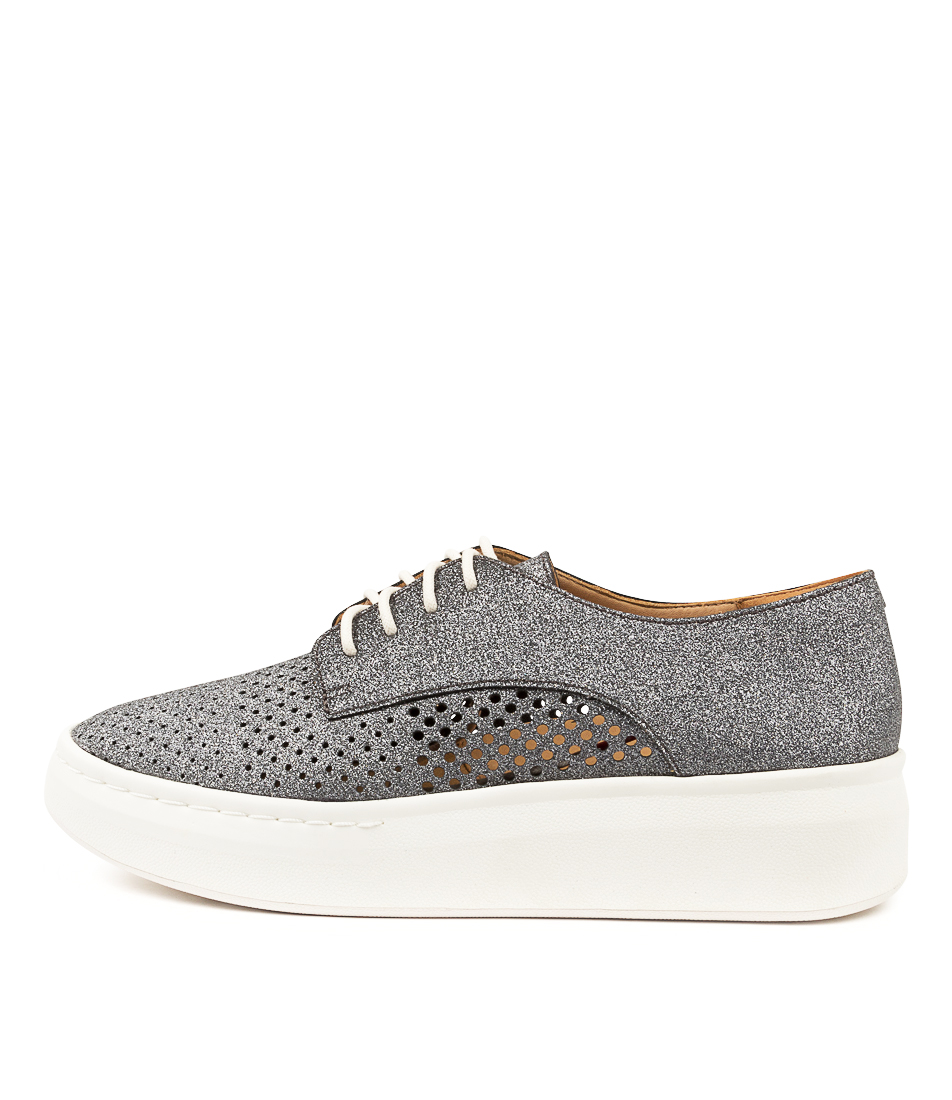 Buy Rollie Derby City Punch Charcoal Glitter Flats online with free shipping