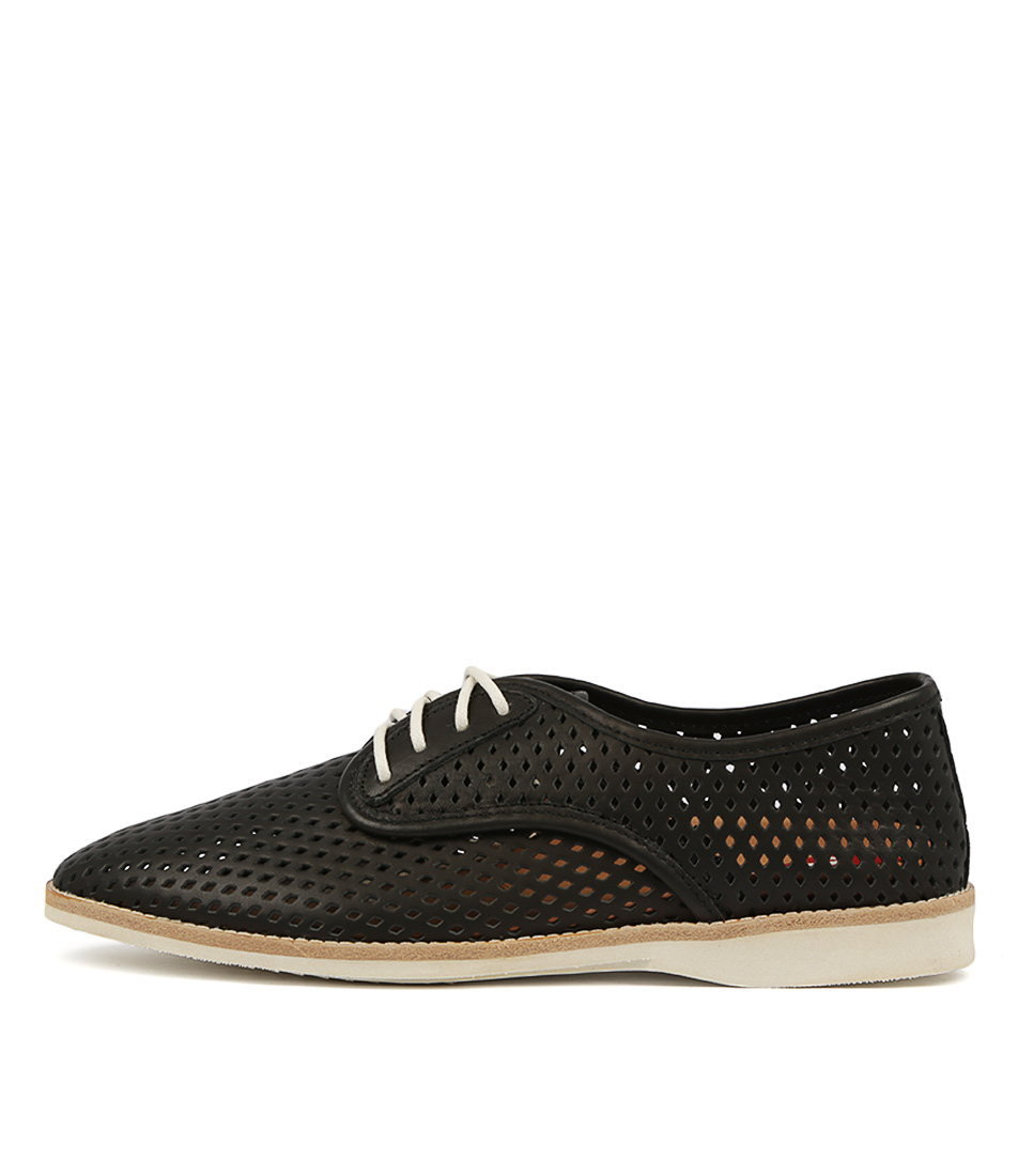 Buy Rollie Derby Punch Black Flats online with free shipping