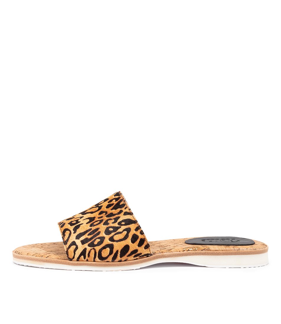 Buy Rollie Slide Leopard Flat Sandals online with free shipping